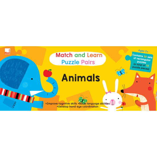 Match and Learn Puzzle Pairs - Animals